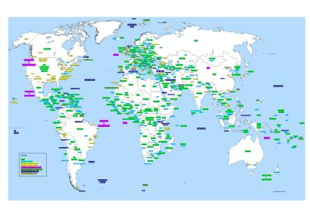 Mapa ortográfico del mundo
